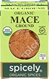 Spicely Organic Mace Powder 0.30 Ounce ecoBox Certified Gluten Free