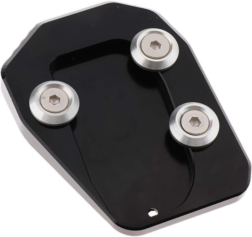 Anti Rutsch non-brand Motorrad Seitenst/änder Kickstand Extension Pad f/ür Yamaha MT-09 Schwarz