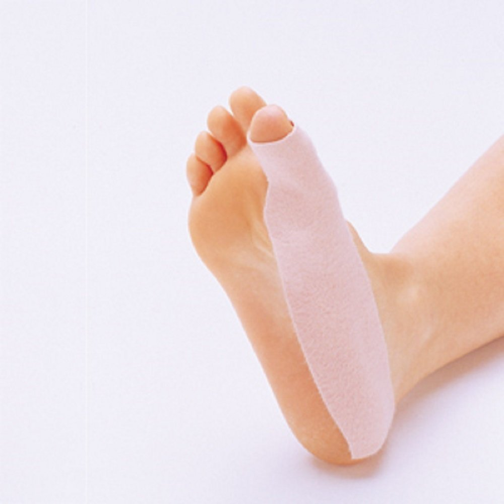 Moleskin Turf Toe Straps, Color: Tan, 100 Strips per Order