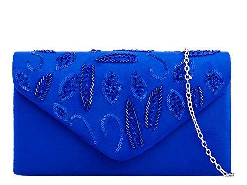 haute Diva pour Small sac Enveloppe main Femme Royal à paillettes wwf5qrd