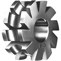 2.5 Diameter 7//8 Hole Size High Speed Steel 5//16 Width of Face F/&D Tool Company 11007-A512 Staggered Tooth Side Milling Cutter