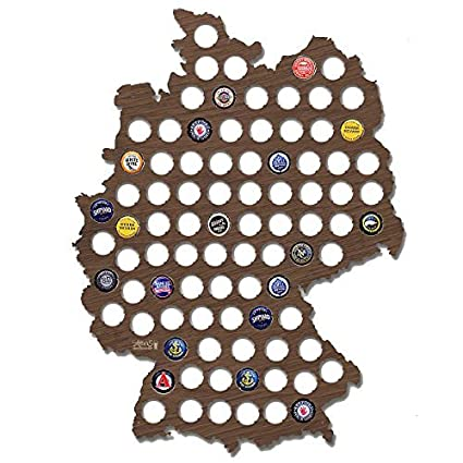 Amazoncom Wall Decor Leiacikl Designed Germany Beer Cap Map Cool - Germany beer cap map