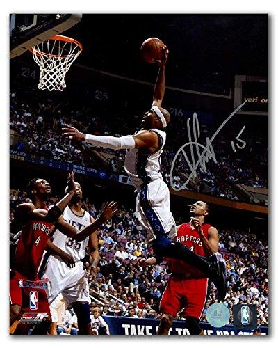 (Vince Carter New Jersey Nets Autographed Playoffs Dunk vs Raptors 8x10 Photo)