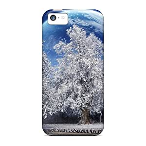 Bestcasesofmobile Tyg6386VSYO Cases Covers Iphone 5c Protective Cases A Beautiful Winter With A Big Moon
