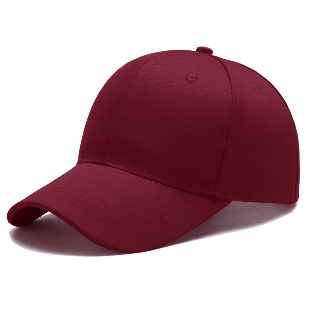 3c27c74a40f8c3 Ehpow Baseball Cap Classic Sports Hat Adjustable Plain Casual Sun Hats for  Men & Women