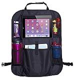 Organizador para asiento trasero de automóvil - 6 compartimientos, ideal para accesorios de viaje, tablets, bebidas y juguetes