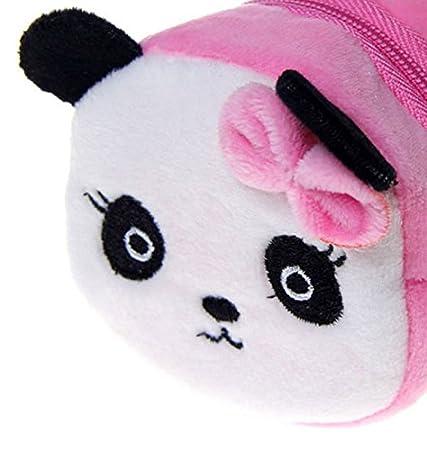 Kentop Monedero Lindo Estilo Peluche Panda para Ni/ña//Estudiante Size 8 X 6cm Rojo