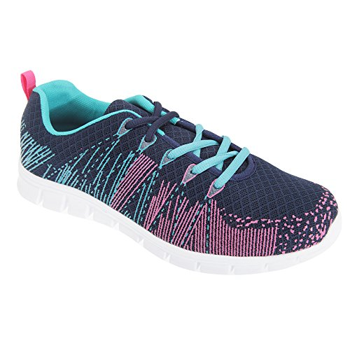 Dek Ladies Memory Superlight Aqua Womens Fuchsia Foam Navy Starlight Trainers TrBxTqwg