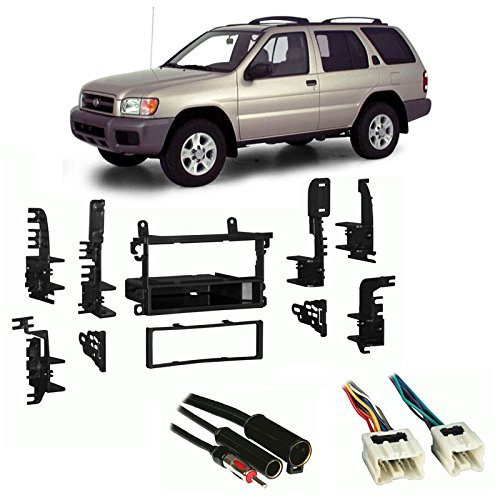 Fits Nissan Pathfinder 1996-2000 Single DIN Harness Radio Install Dash Kit ()