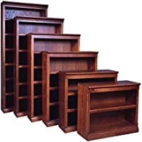 Forest Designs Mission Bookcase: 36W X 48H X 13D (One Bookcase) 48h Coffee Alder