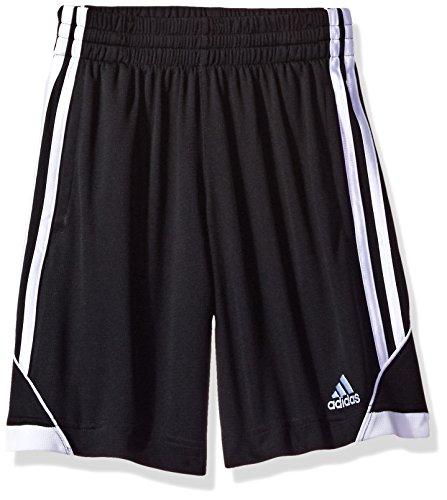 adidas Boys Big Athletic Short, Caviar Black, M