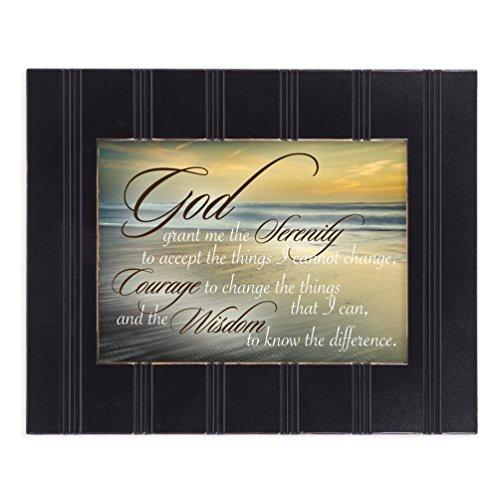 - Serenity Prayer Ocean Waves 8x10 Black Framed Art Wall Plaque Sign