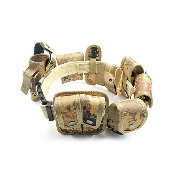 Lixada Cinturón Táctico de Ajustable Nylon Militar Utilidad Correa Kit Guardia de la Policía de Seguridad Formación 10