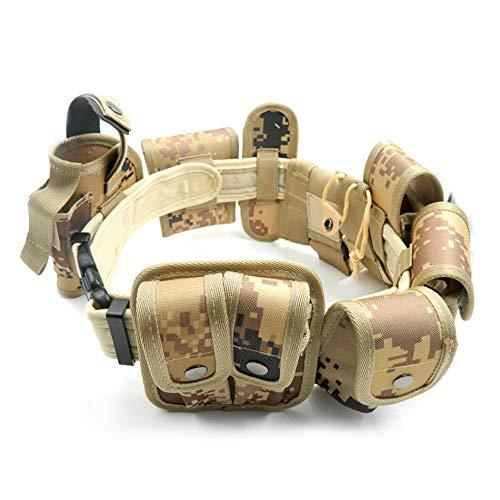 Lixada Cinturón Táctico de Ajustable Nylon Militar Utilidad Correa Kit Guardia de la Policía de Seguridad Formación 9