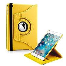 Gearonic 10240-YELLOW-IPM4 360 Rotating Case with Sleeping Function for iPad Mini 4, Yellow