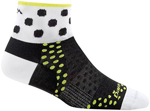 Ultralight Womens Socks - Darn Tough Dot 1/4 Ultralight Sock - Women's Black Medium