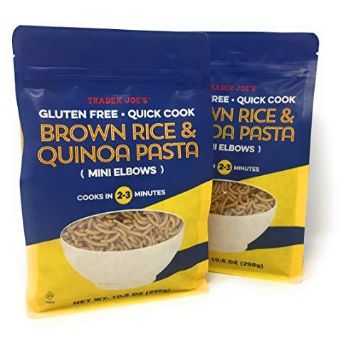 New - New Trader Joe's Brown Rice and Quinoa Pasta - Mini Elbows - Gluten Free - Quick Cook (2-3 Min) - NET WT 10.5 Oz - 2 PACK