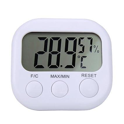 Y56 Termómetro Interior/ausen Temperatura Medidor de Humedad Digital LCD Termómetro Interior higrómetro Reloj comparador