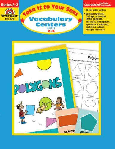 Evan-Moor Take It to Your Seat Vocabulary Centers Book, Grade 2 to 3 (Best Act Tutoring Programs)