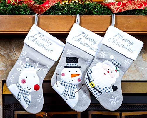 Imperial Home 3 Pcs Set - Classic Christmas Stockings 18