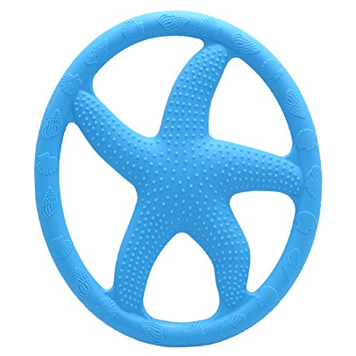 ailams-starfish-baby-teether-ringfood-grade-silicone-bpa-free-fda-approvedtoddlers-teething-toy-blue