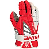 Brine Triumph III Lacrosse Gloves - Red and White - 12 inch