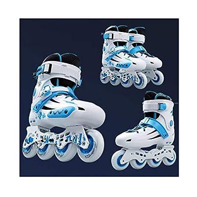 Sljj Inline Skates, Adult Single Row Skates Professional Men and Women Roller Skates Child Full Set (3 Colors) (Color : Blue, Size : 36 EU/4.5 US/3.5 UK/23cm JP): Home & Kitchen