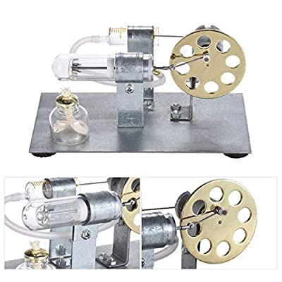 Clothful Hot Air Stirling Engine Model Generator Motor Steam Power Educational DIY Toy: Home & Kitchen