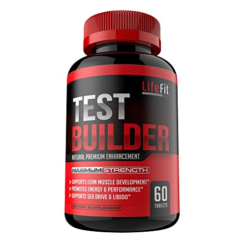 Test Builder Potent & 100% Natural Testosterone Booster For Men| For Muscle Growth | Increase Stamina | Promotes Healthy Sex Drive and Energy Production | Perfect for Athletes