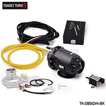Universal Car Styling DIY Negro eléctrico Diesel ssqv4 SQV4 Blow Off Valve/ Válvula de diésel camión volquete/Diesel BOV SQV Kit tk-dbsqv4-bk: Amazon.es: ...