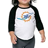 Kim Lennon Miami Lovely Dolphin Children Baseball Raglan Tshirt Black