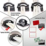 Cable Management - 100 PCS Adhesive Cable Clips