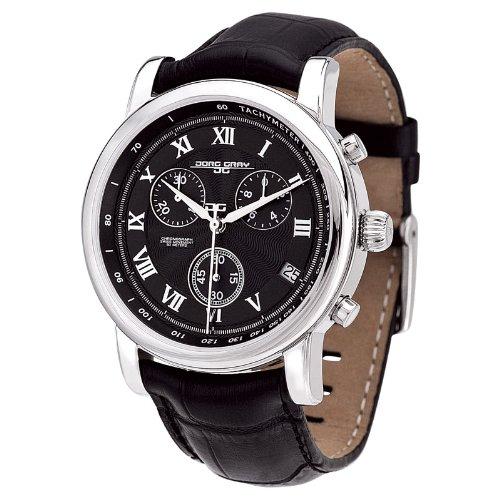Jorg Gray JG7200-13 - Men's Swiss Chronograph Watch, Date Display, Sapphire Crystal, Leather Straps