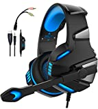 WINTORY V30 Gaming Headset Xbox One PS4 Headphones Mic Noise Cancelling Over Ear LED Light Bass Stereo Sound PC,Laptop, Mac, Tablet