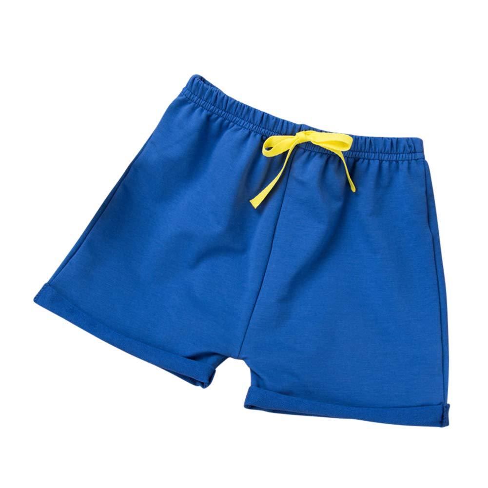 XUBA Kids Boys Girls All Match Solid Color Beach Shorts