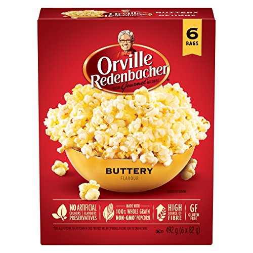 Orville Redenbacher Popcorn - Microwave Buttery (6 x Pack of 6 - 36 bags total)