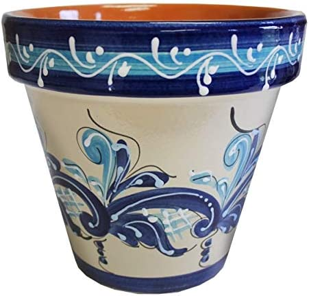 Spanish Flower Pot, Planter, Garden 6.5 D