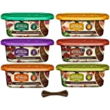 Rachael Ray Nutrish Natural Super Premium Grain Free Wet Dog Food - 6 Flavor Variety Pack, 8 Oz Tubs - Pack of 6, Plus…