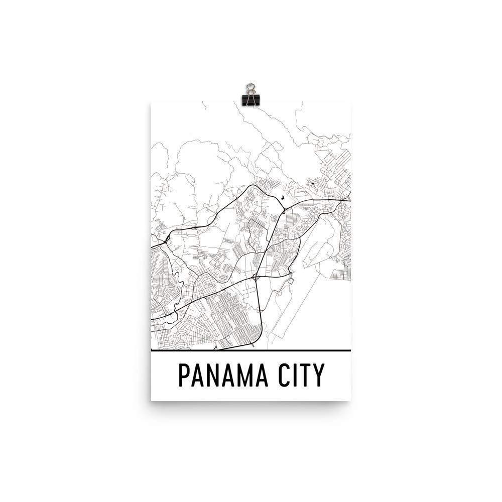 Modern Map Art Panama City Print, Panama City Art, Panama ...