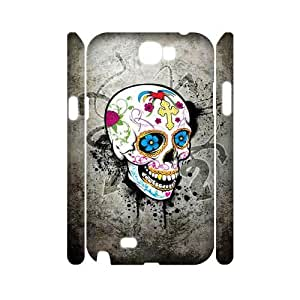 C-QUE Skull Customized Hard 3D Case For Samsung Galaxy Note 2 N7100