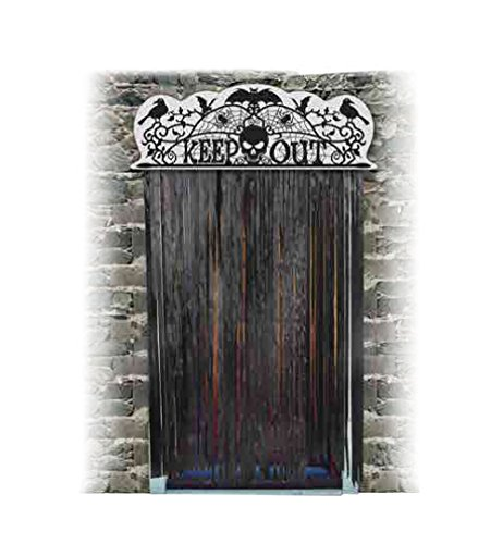 Bristol Novelty HI364 Halloween Door Topper Keep Out, Multi-Colour, One Size
