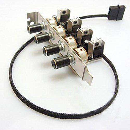- Bykski PC 4 Channel 3-Pin 3pin PCI Cooling Fan Speed Controller Support Turn OFF fan