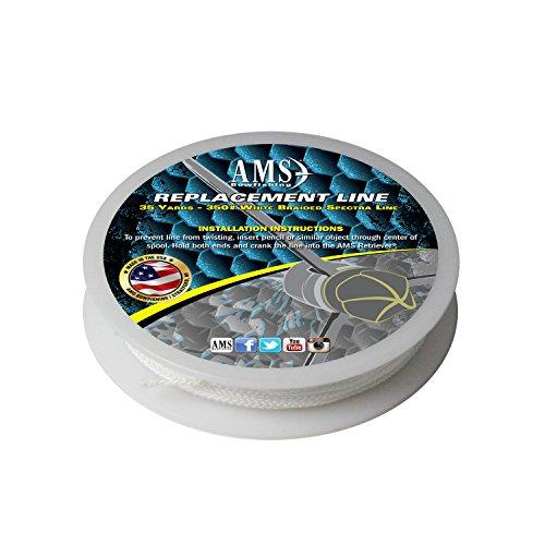 AMS L21-35 35-Yards 350-Pound Bowfishing Line, White