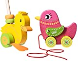 Dragon Drew Wooden Push Along Toy And Pull Along Toy Bird For Toddler Toy By (2 Pack)