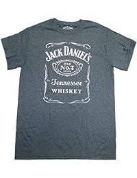 Jack Daniels T-shirt Heather Grey Logo Tee Front-xxl