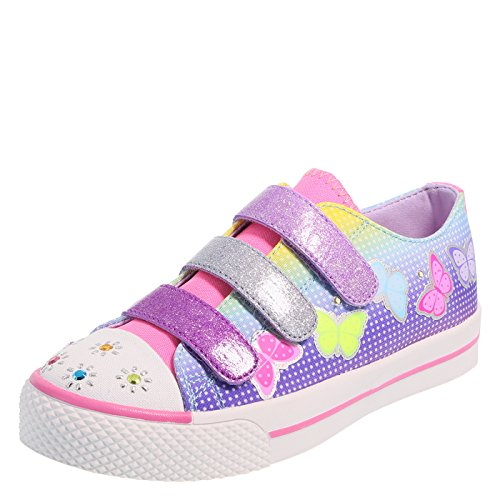 Airwalk Blue Pink Girls Craze Double Strap Sneaker 1 (Double Strap Sneakers)