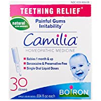 Boiron Camilia, Baby Teething Relief, 30 Doses. Teething Drops for Painful Gu...