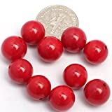 18mm Round Red Coral Beads Strand 15 Inches Jewelry Making Beads