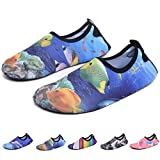 RUNSOON Kids Water Swim Shoes Girls Boys Aqua Socks Shoes Anti Slip for Beach Outdoor Athletic Sports,S08 Goldfish 32/33