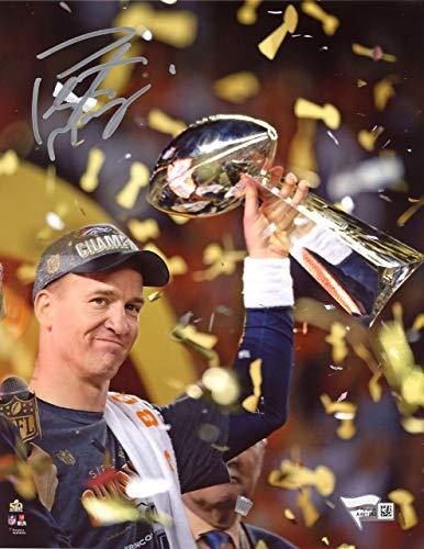 Peyton Manning Autographed 8x10 Photo Denver Broncos Sb Trophy Fanatics Holo Stock Autographed #135304 - Certified Authentic